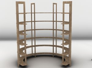 shelves 3d 3ds