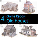 Old House Collection, Low Poly, Textured