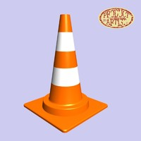 traffic cone 3d 3ds