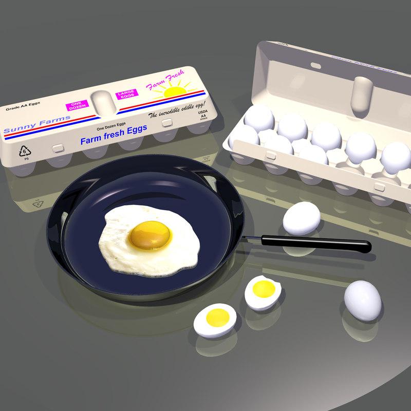 breakfast egg 3d model