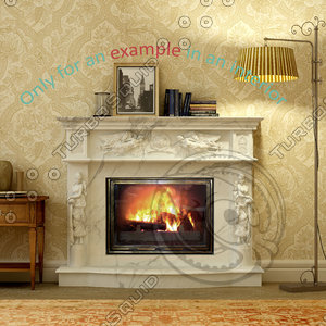 fireplace 08 3d max