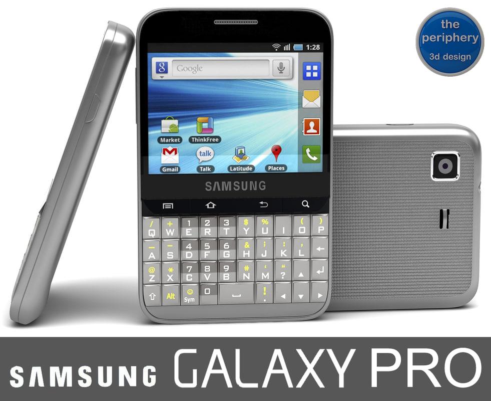 samsung galaxy pro 3d model