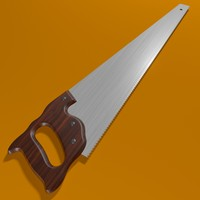 3d hand saw blade model