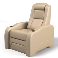 home theater seating 3d model