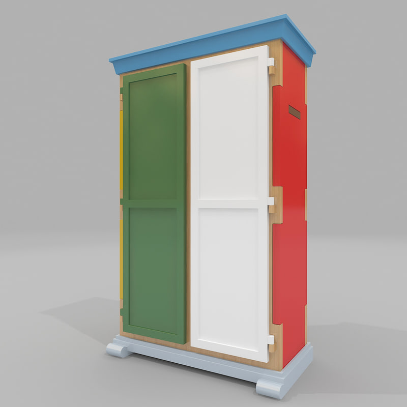 wardrobe moooi paper 3d model