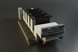 offset printer 3d model