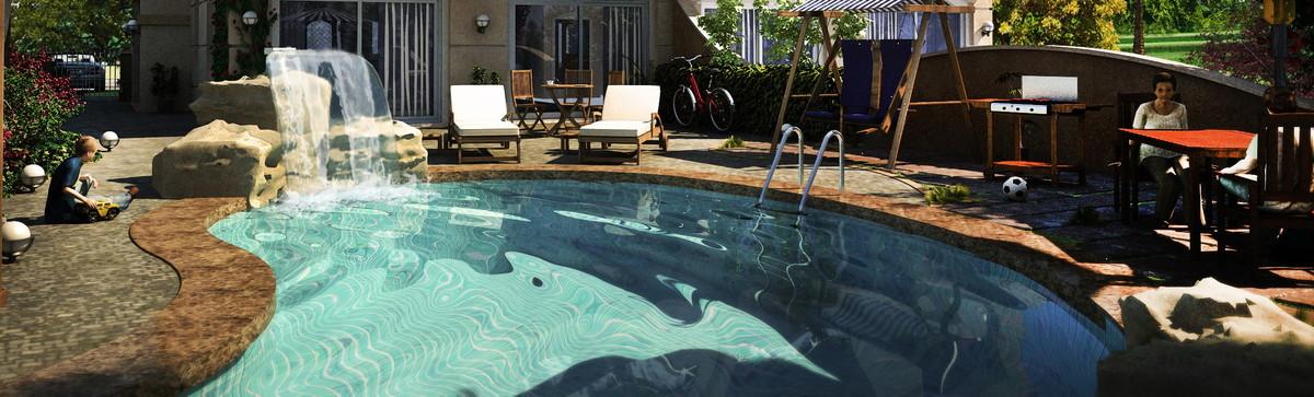 organic swimming pool 3d 3ds