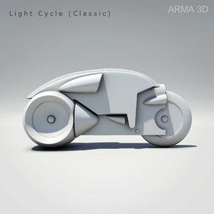 light cycle tron 3d obj