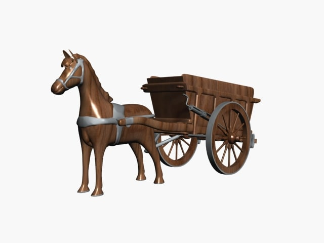 3ds max horse wagon