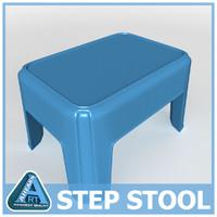 3d step stool