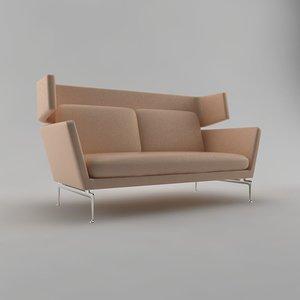 3d model vitra suita sofa