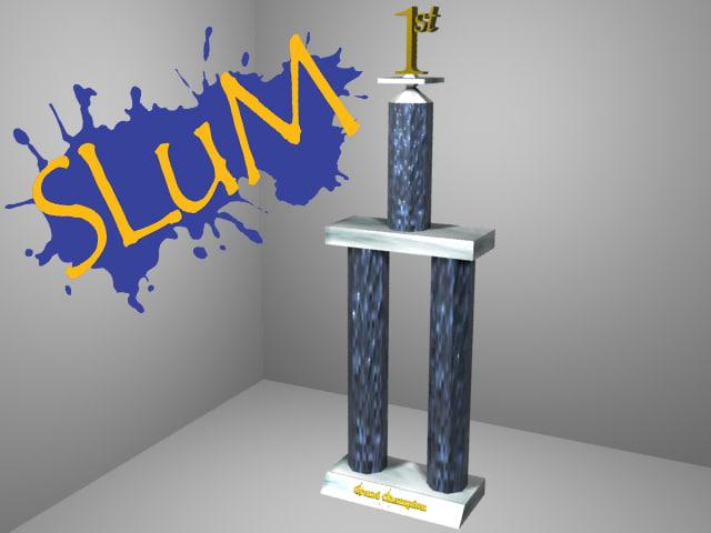 champion trophy 3d model