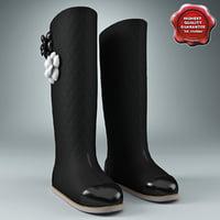 women felt boots 3ds