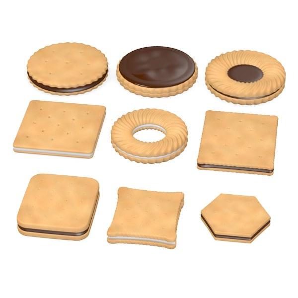 3d model biscuits filled