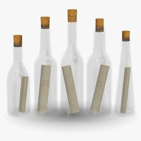 3d model bottles messages
