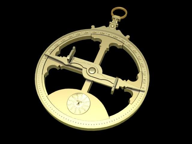 3d model astrolabe