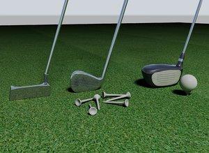 3d model golf clubs