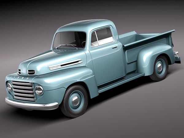 f1 1950 pickup antique 3ds