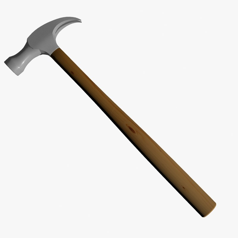claw hammer 3d model