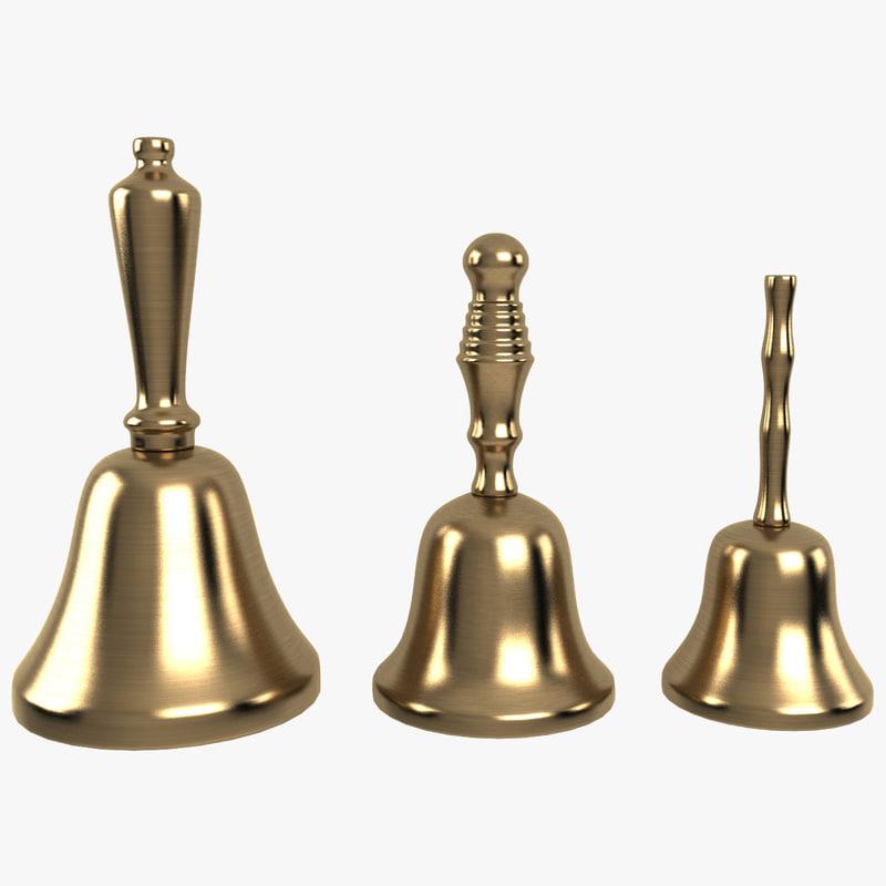bell handbell hand 3d max