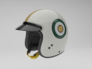 classic racing helmet 3d max