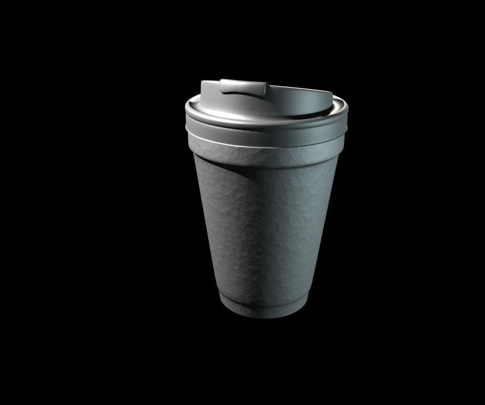 3d dunkin coffee cup model