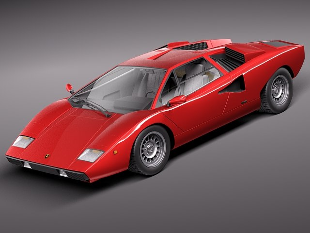 lamborghini countach lp400 sport 3d model