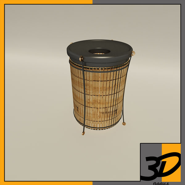 3d model of litter barrel