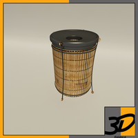 3d model of litter barrel