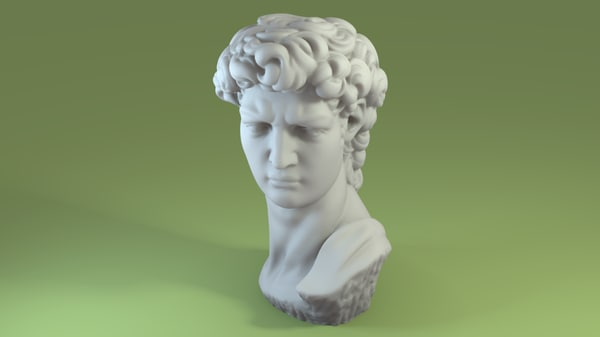 3d model of scan david bust