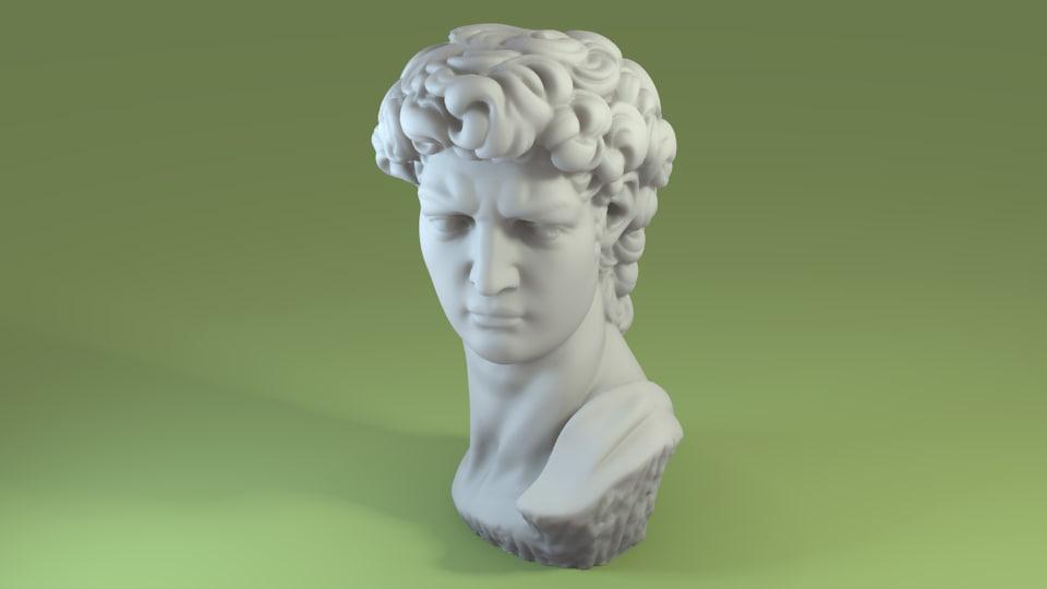 3d model of scan david bust