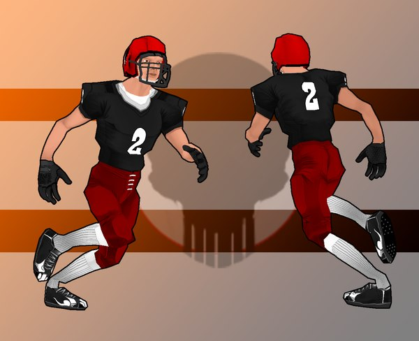 football player 3d fbx