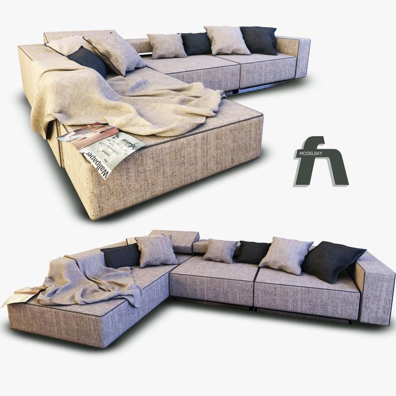 sofa andy italia 3d max