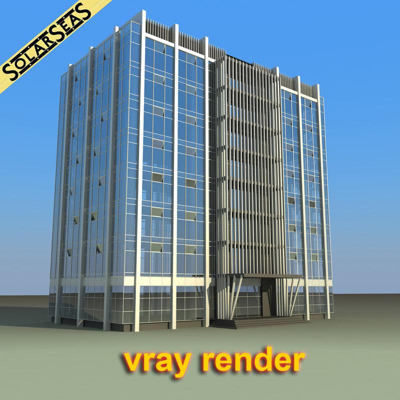 3d 3ds modern office building
