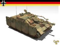 3d stug iv gun model