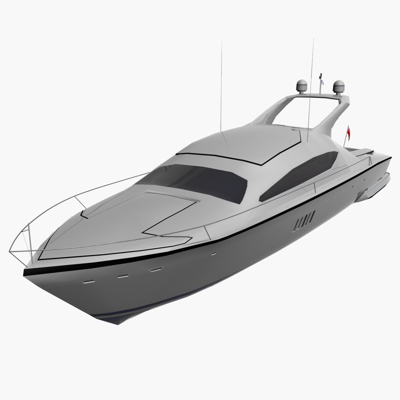 small yacht 3d model