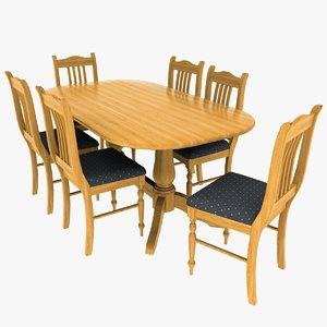 oak chair table set max