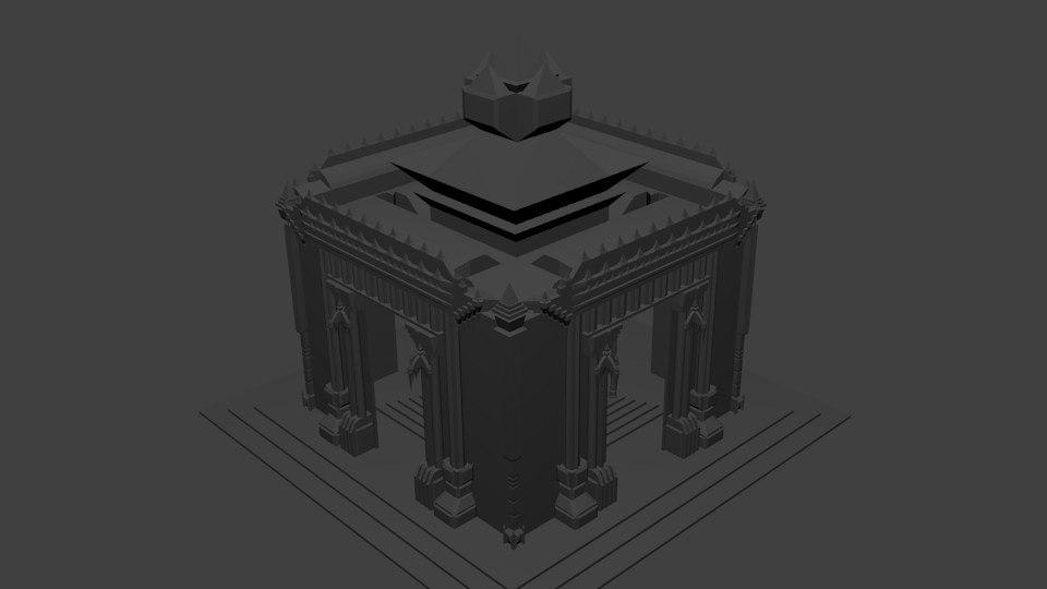 blender fantasy temple