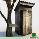 Wooden toilet