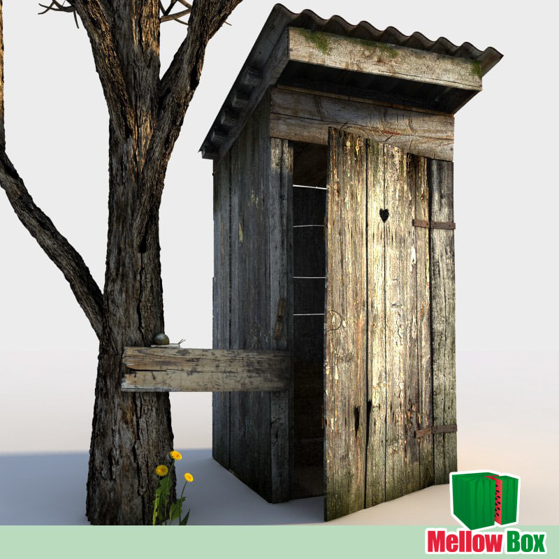 3ds max wooden latrine