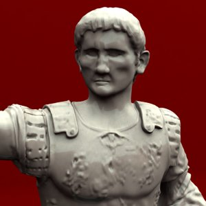 statue augustus emperor 3d obj