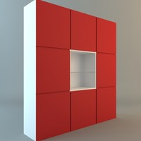 3d model display contemporary storage