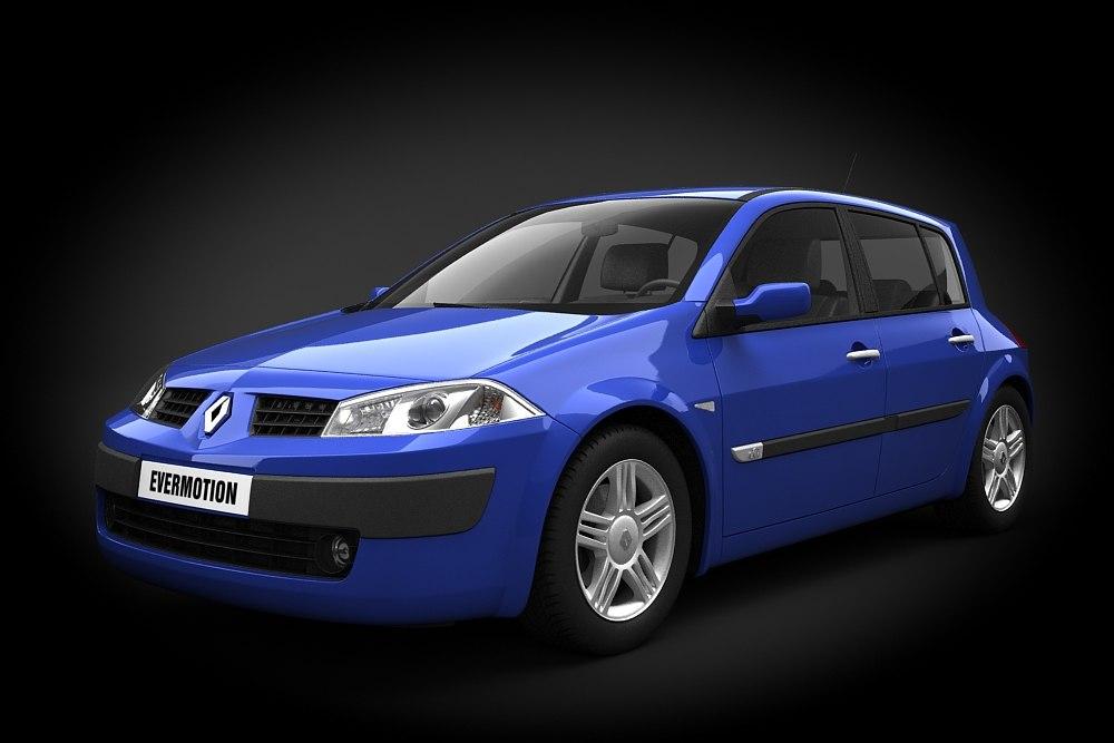 car renault megane ii 3d max