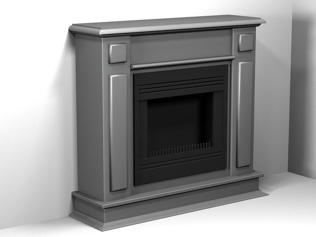 3ds max fireplace 04