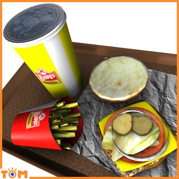 fast food 3d obj