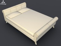 scroll 5ft bed 3d max