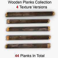 Broken Wooden Planks Collection 4