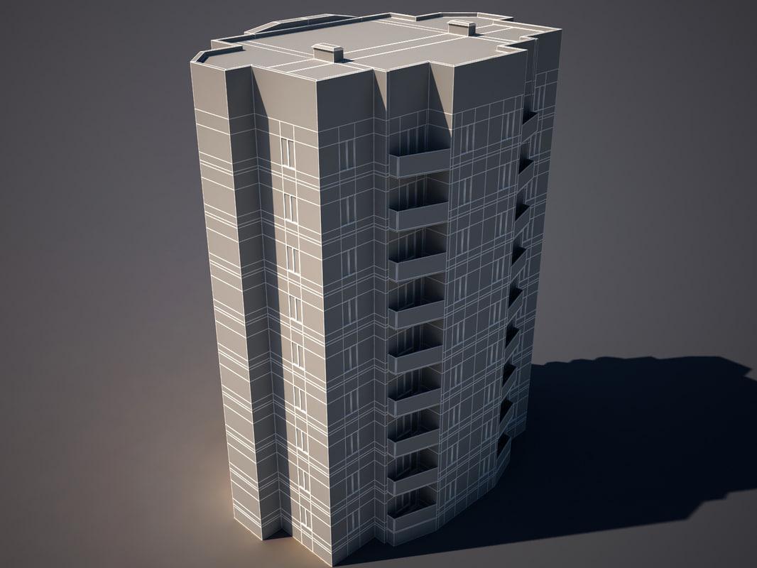3d appartment building