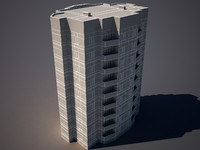 3d appartment building