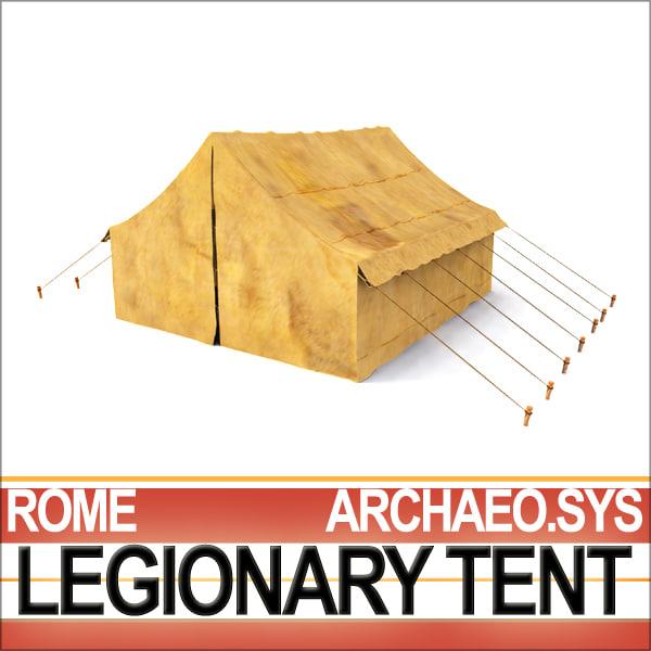 ancient rome legionary tent 3d model